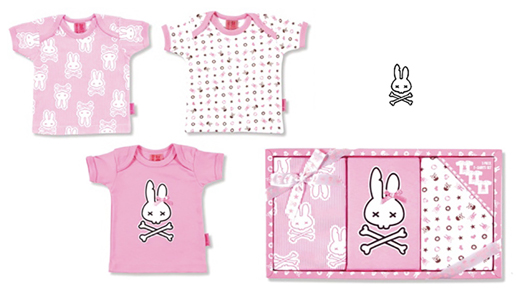 PINK BUNNIES T-SHIRT SET