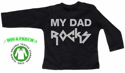 MY DAD ROCKS (Silver logo)