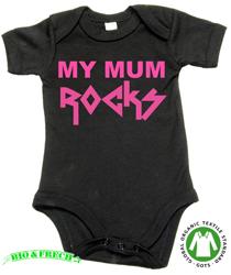 MY MUM ROCKS (Silver logo)
