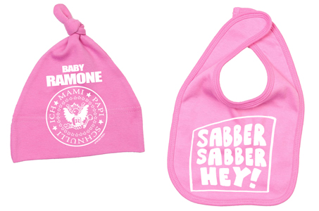 BABY RAMONE Lätzchen + Mütze Set