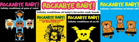 Rockabyebaby, Green Day, Ramones, Aerosmith, AC/DC